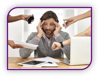 Les sollicitations nombreuses peuvent provoquer le stress au travail
